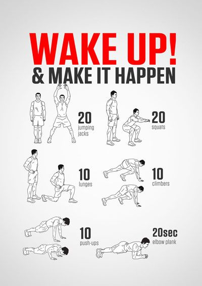 Wake Up Make It Happen Wake Up Workout Bodyweight Workout Gym Workout Tips