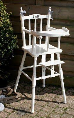 Brocante Kinder Stoel.Lief Landelijk Witte Brocante Kinderstoel Kinderstoel