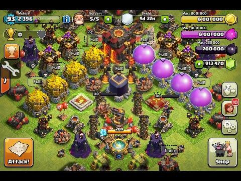 Clash of Clans Hack/Mod Unlimited Gems v8 551 4 APK [Latest