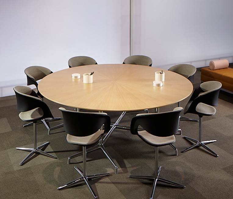 Business Office Decorating Ideas Is Unquestionably: Coalesse SW1 Round Table With Lox Chairs Installed