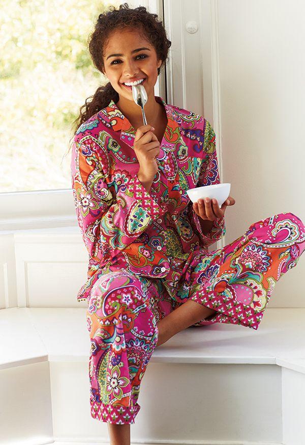 11e767e5bcbcd Vera Bradley Fall 2014: Pajama Pants and Top in Pink Swirls.  #BrightestYearEver