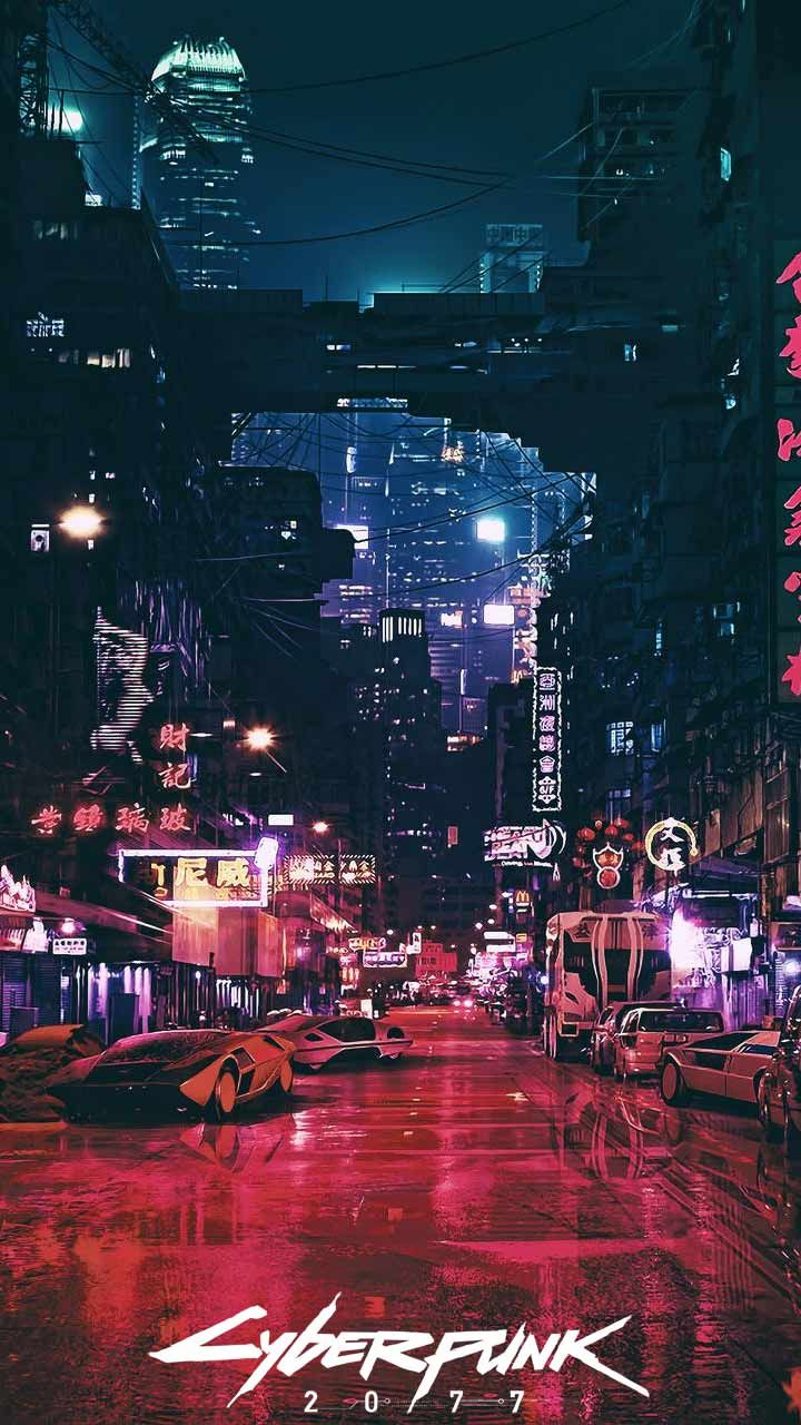 Cyberpunk 2077 Wallpaper Hd Phone Backgrounds Night City Game Logo Art Poster On Iphone Android In 2020 Futuristic City City Wallpaper Pop Art Wallpaper