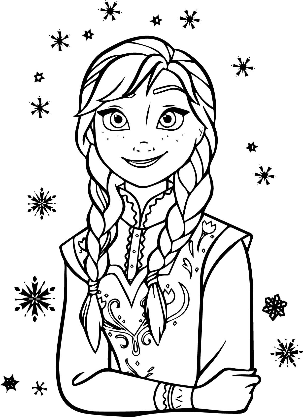 frozen cartoon characters coloring pages - photo#36