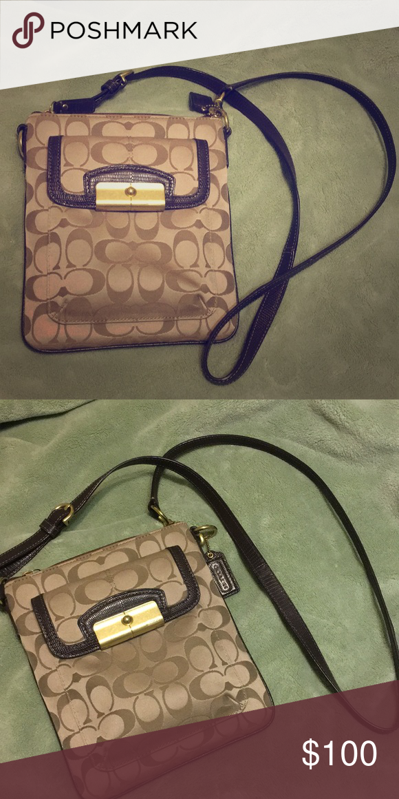 Coach crossbody bag Coach crossbody bag with zip-top closure and outside  pocket. Grab it Ladies!!! Coach Bags Crossbody Bags