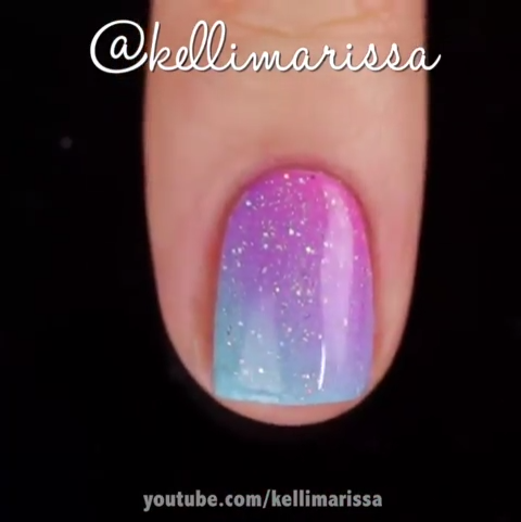 "MetDaan Nails's Instagram profile post: ""Quick tutorial for my gradient nails  @kellimarissa"""