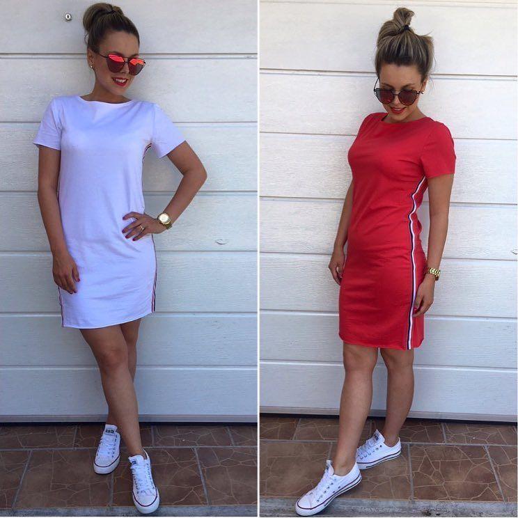 collection Športové šaty  veľ.UNI už len v bielej farbe --  červené ... a8c11076b34