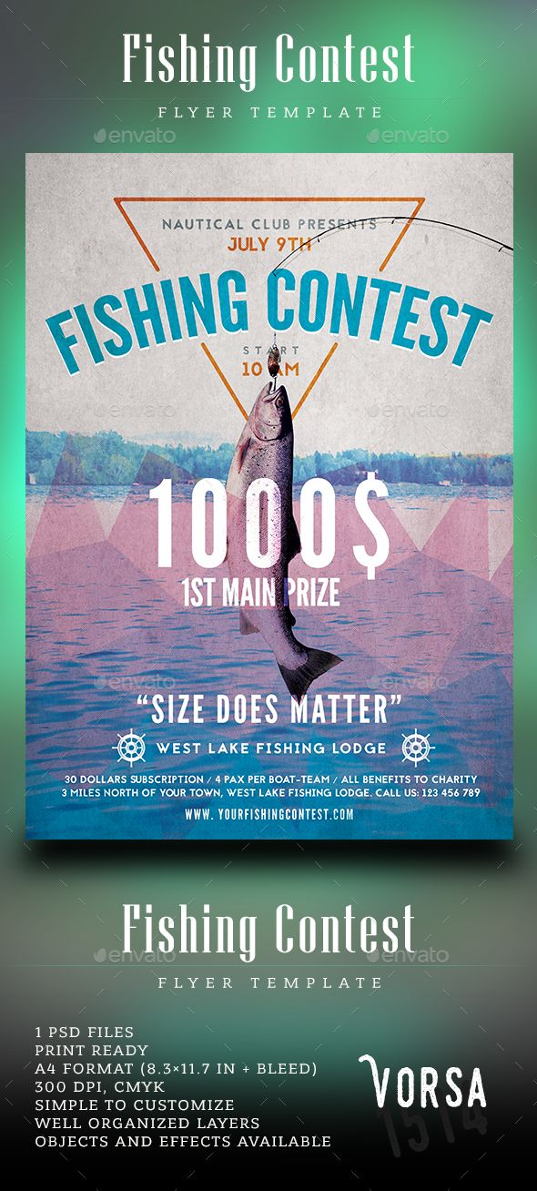Fishing Contest Flyer Template Flyer Template Event Flyers And