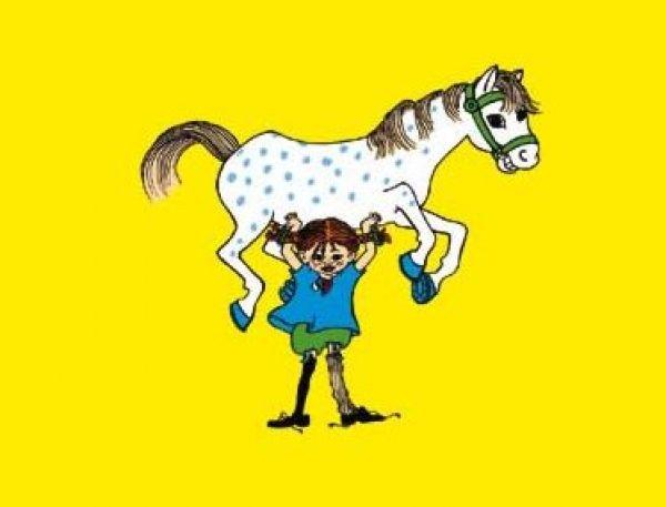 Poster 50x70 cm, Pippi Langstrumpf-Pferd