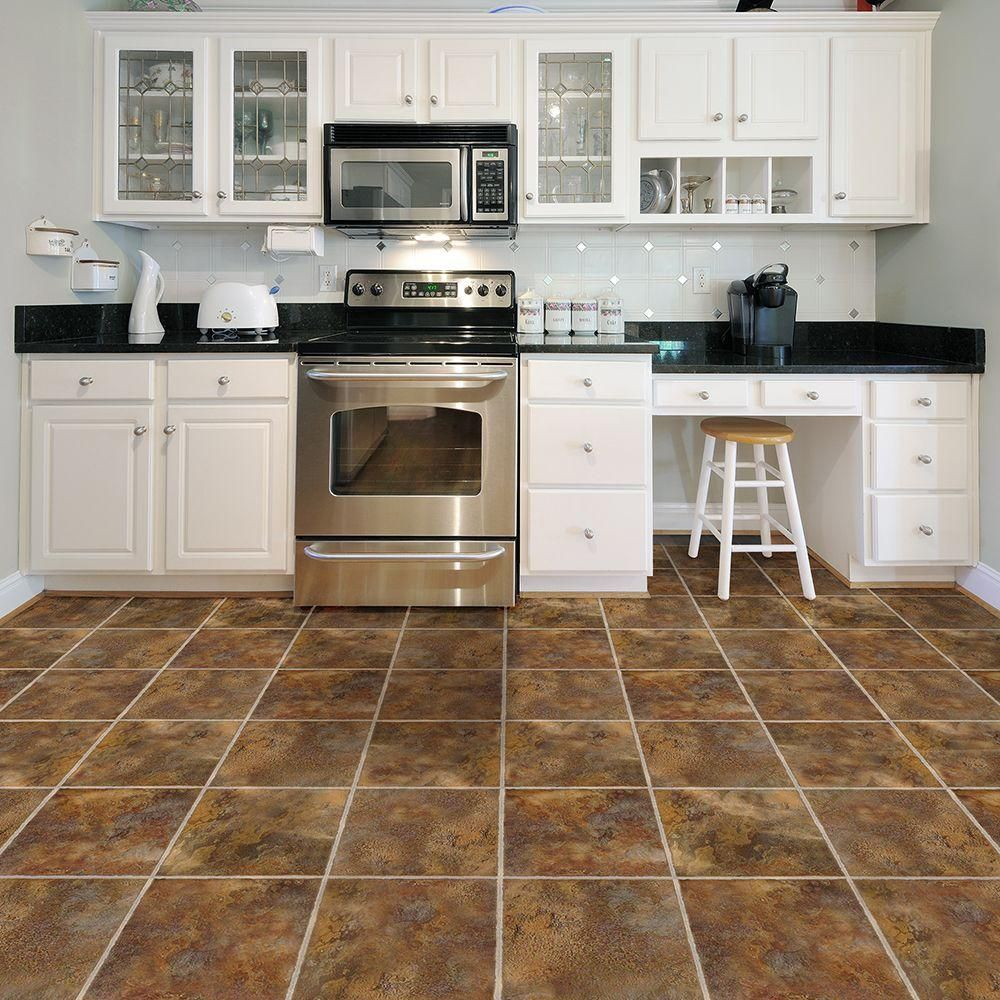 Trafficmaster Allure 12 In X 36 In Sierra Luxury Vinyl Tile Flooring 24 Sq Ft Case 21181 The Home Depot Vinyl Tile Flooring Luxury Vinyl Tile Flooring Kitchen Renovation