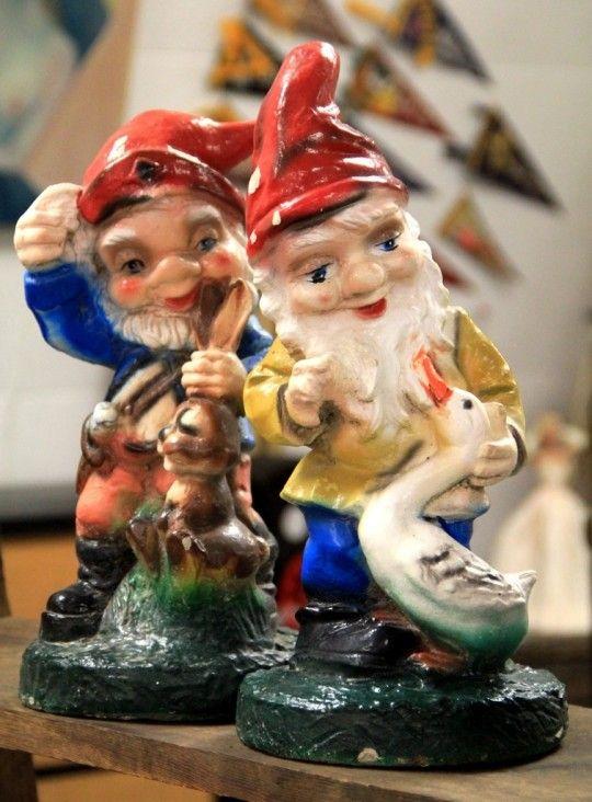Gnome Garden: Vintage Garden Gnome Statues