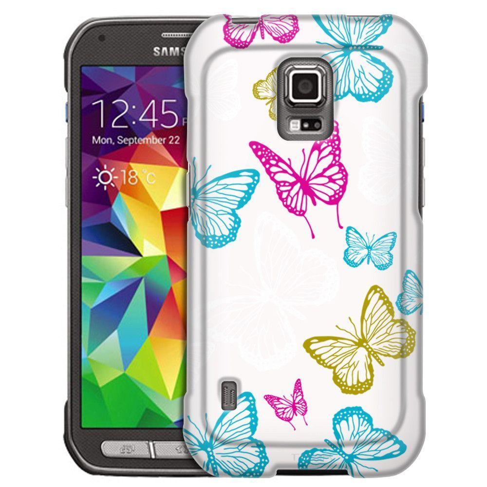 Samsung Galaxy S5 Active Vivaciuos Butterflies on White Slim Case