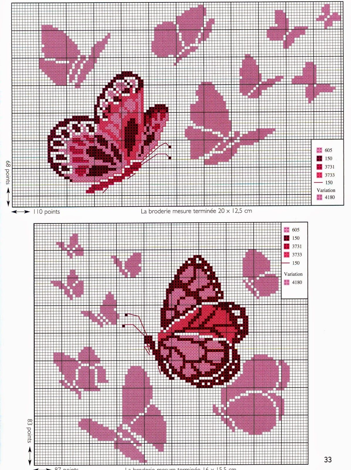 Punto Croce Schemi Gratis E Tutorial Tante Farfalle Da Ricamare A