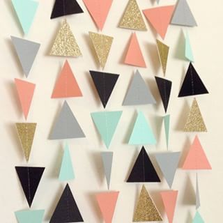 gold geometric pastel interior - Google Search