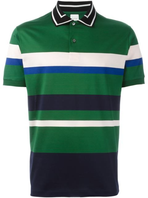 95f9a3a5b Shop Paul Smith contrasting collar striped polo shirt in Giulio from the  world's best independent boutiques at farfetch.com. Shop 400 boutiques at  one ...