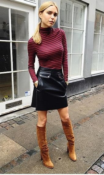 Proof That a Leather Skirt Is the Most
