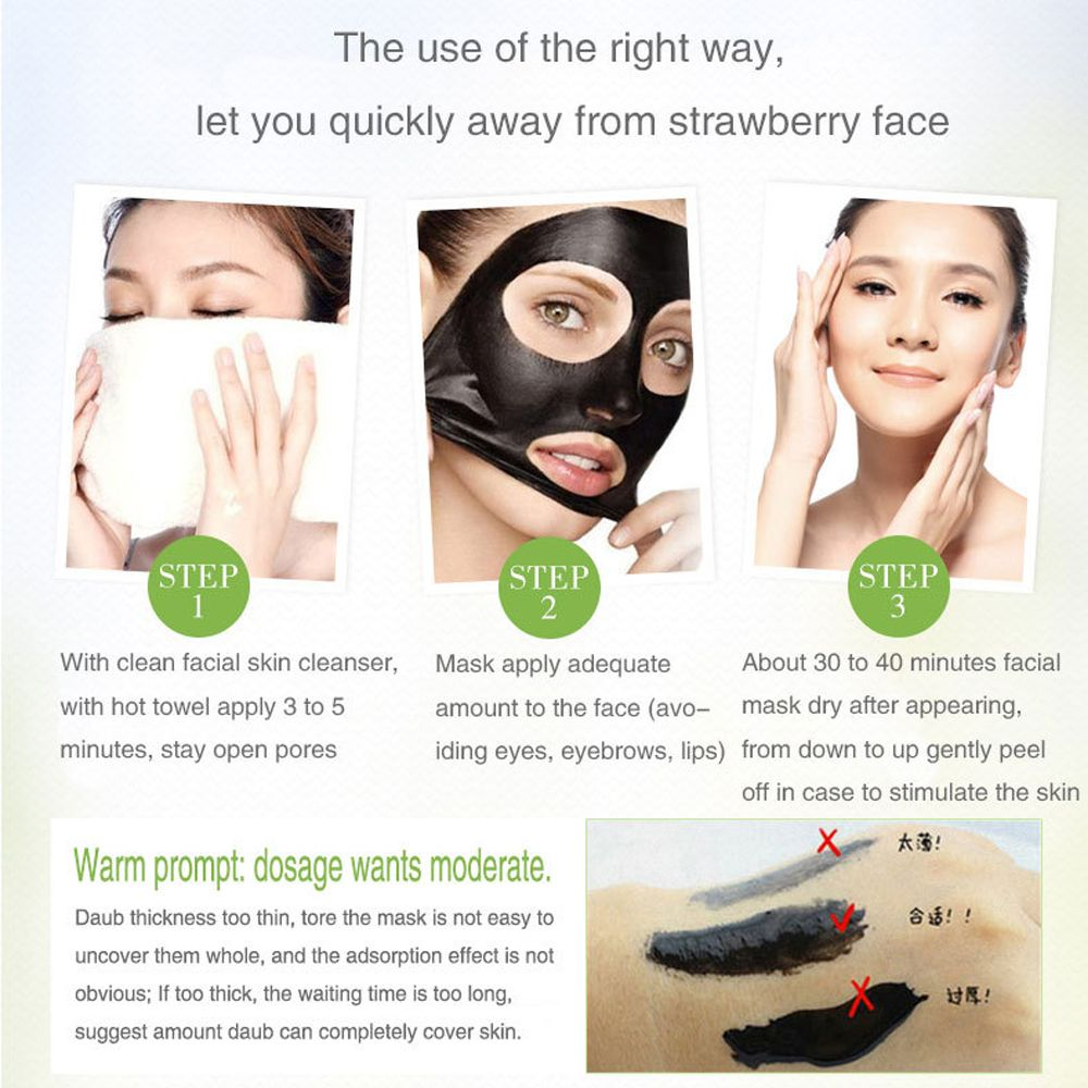 Facial Black Masks Deep Cleansing Purifying Peel  BeautyBelleza