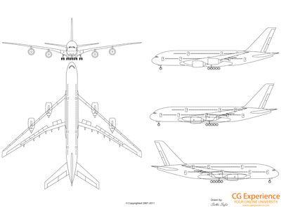 Airbus A380 Blueprints Aeronautica