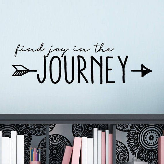 find joy in the journey wall quotes vinyl wall decal travel
