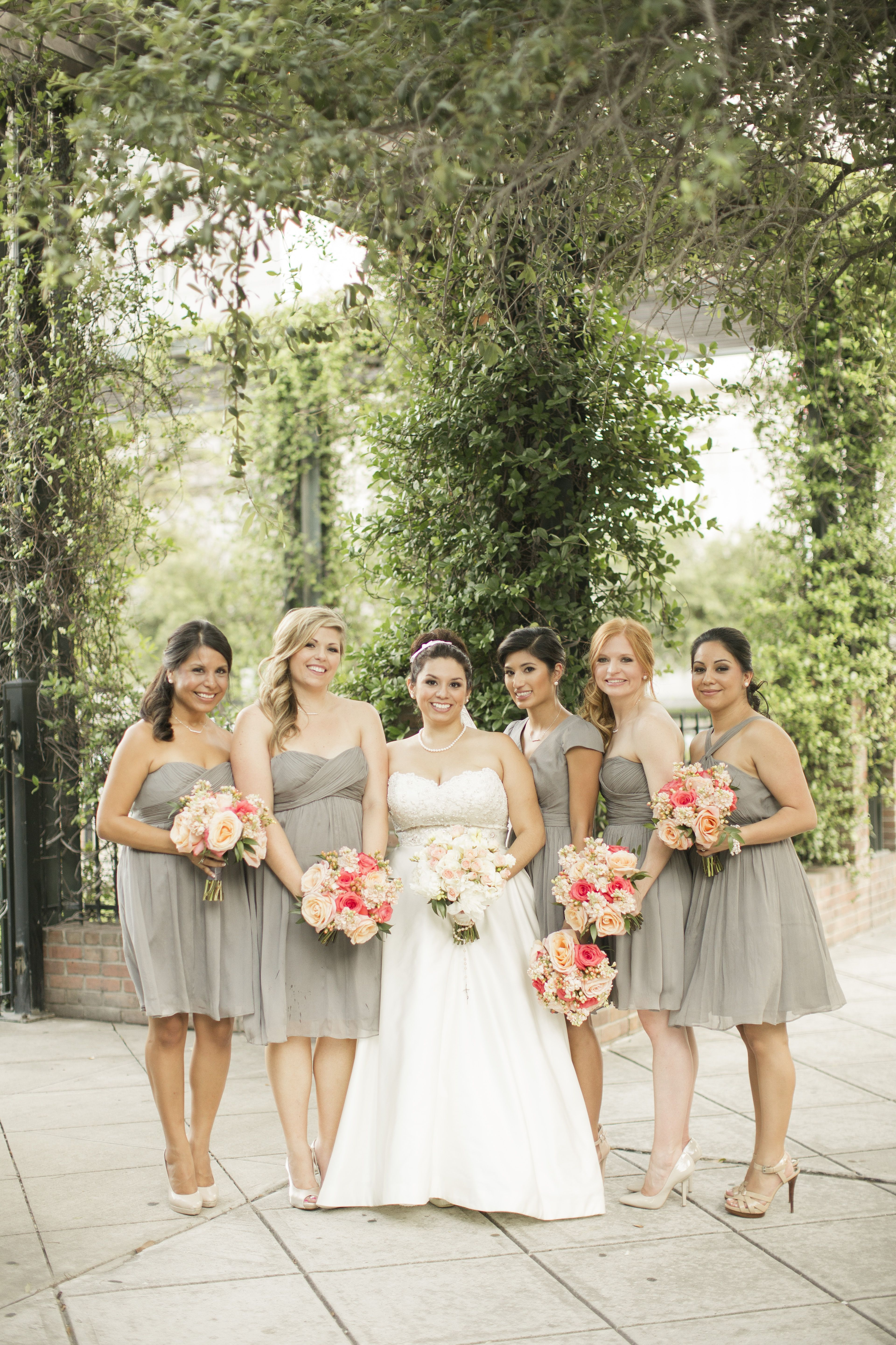 Jew bridesmaid dresses gray and peach wedding wedding bells crew bridesmaid dresses gray and peach wedding in love with the colors ombrellifo Images