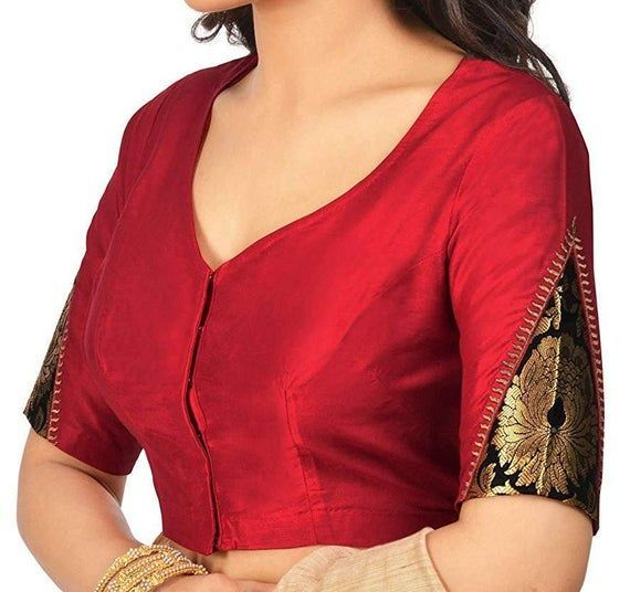 Designer Red Cotton Silk Blouse New Indian Designer Readymade Blouse For Women Wedding,Party Wear Saree Choli Top Tunic Sari Blouse #indiandesignerwear