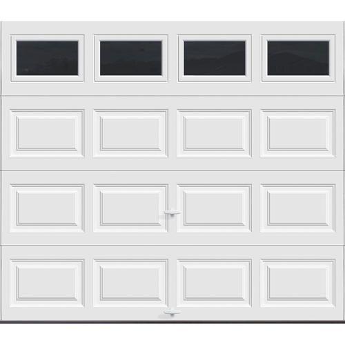 Ideal Door Ez Set 5 Star Plain Windows 8 X 7 White Raised Panel Insulated Garage Door White Garage Doors Garage Door Insulation Garage Door Styles