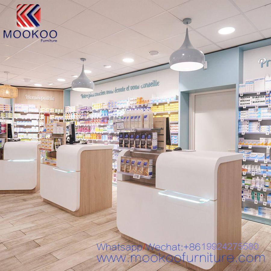 Modern Style Pharmacy Shop Interior Furniture Design