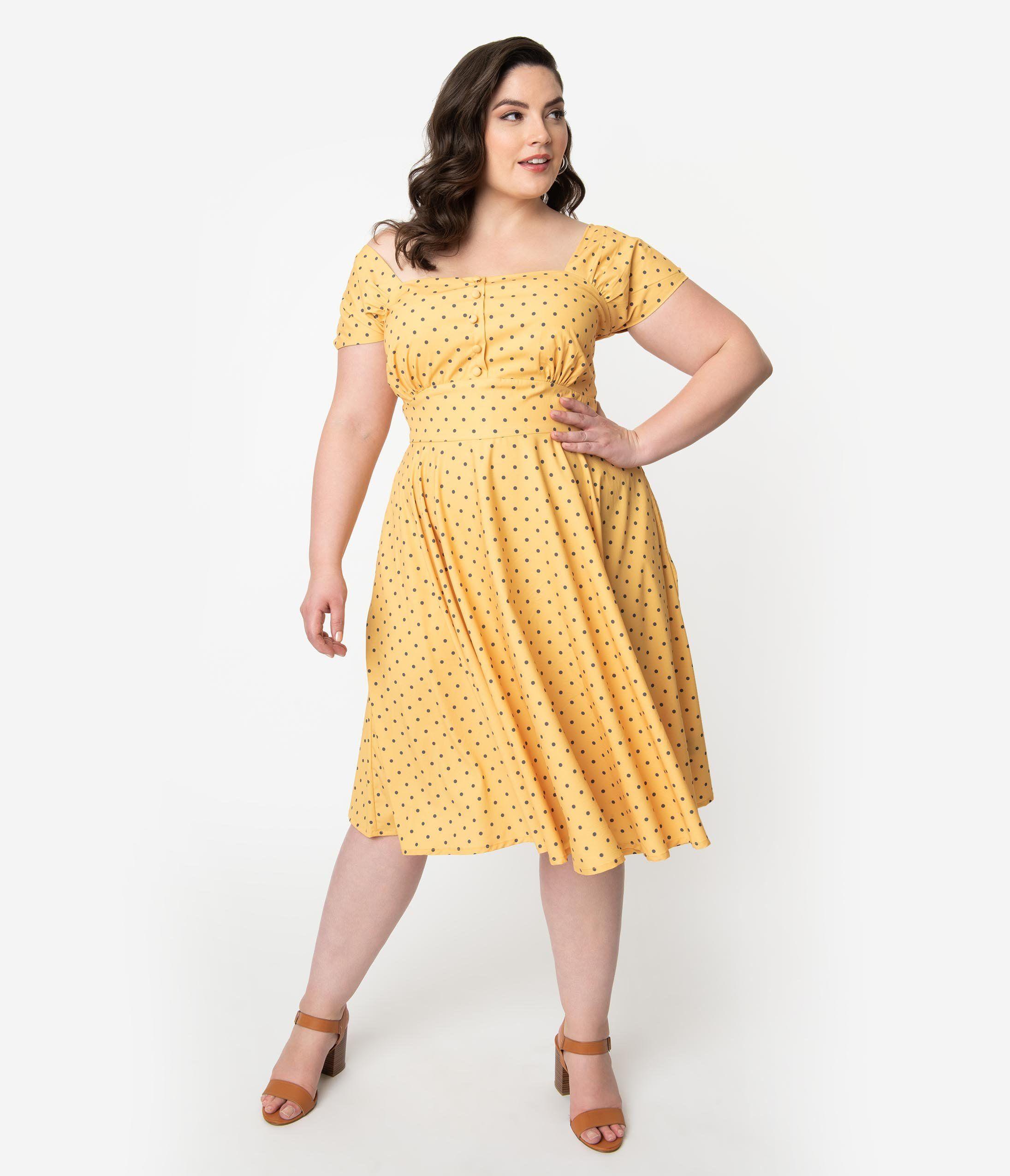 Vintage Style 1940s Plus Size Dresses Plus Size Vintage Dresses 1940s Fashion Plus Size Retro Dresses