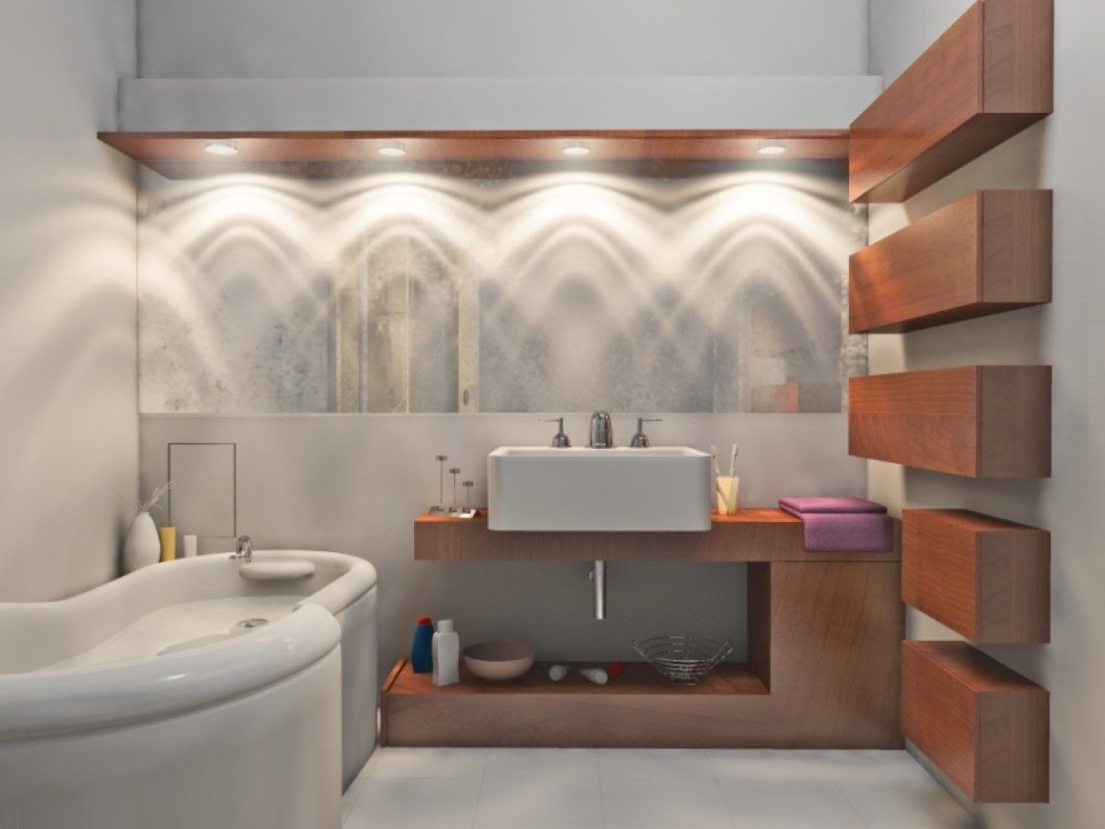Awesome Makeup Lighting Feat Freestanding Bathtub Design and