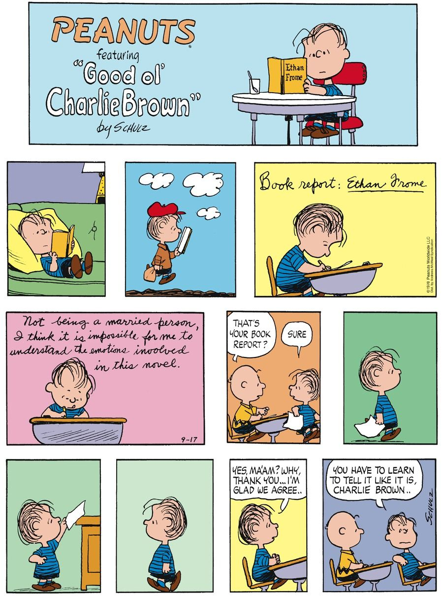 Peanuts By Charles Schulz For September 17, 2017 | Charlie