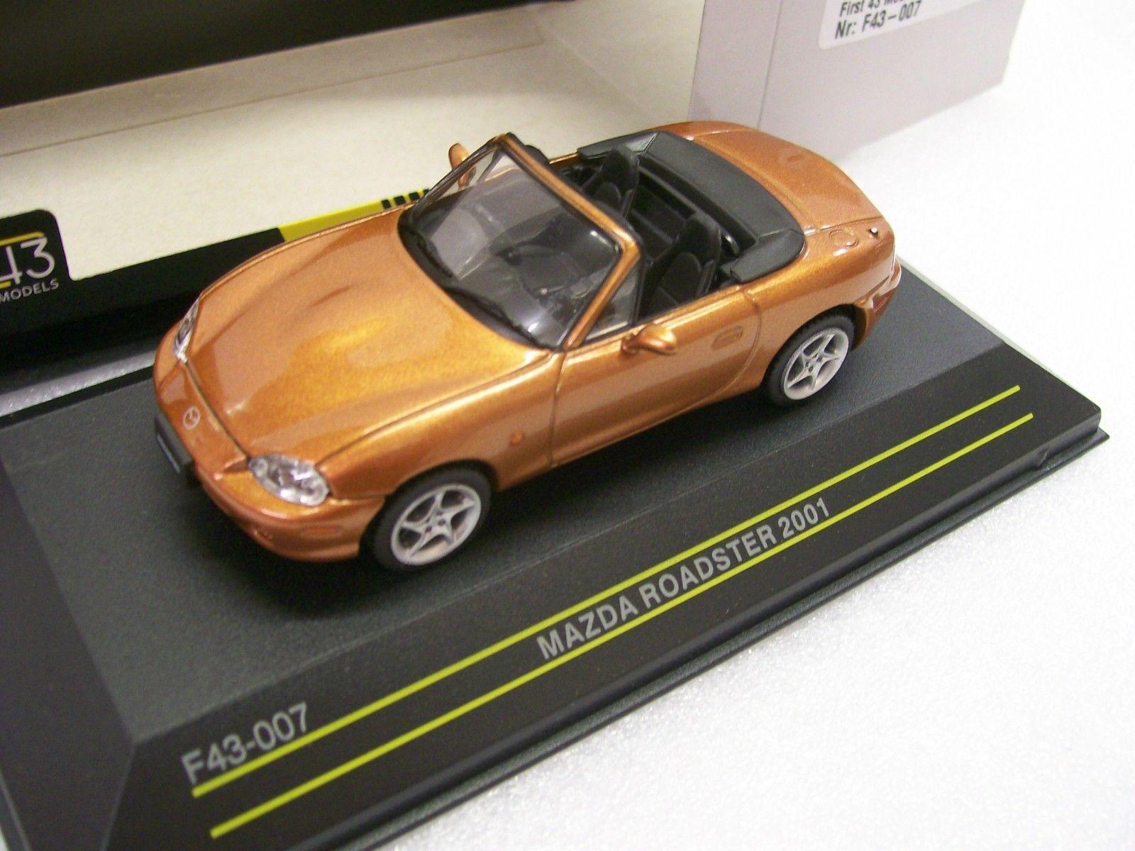 Mazda Mx-5 Roadster Closed 2015 White Black First43 1:43 F43-070 Model