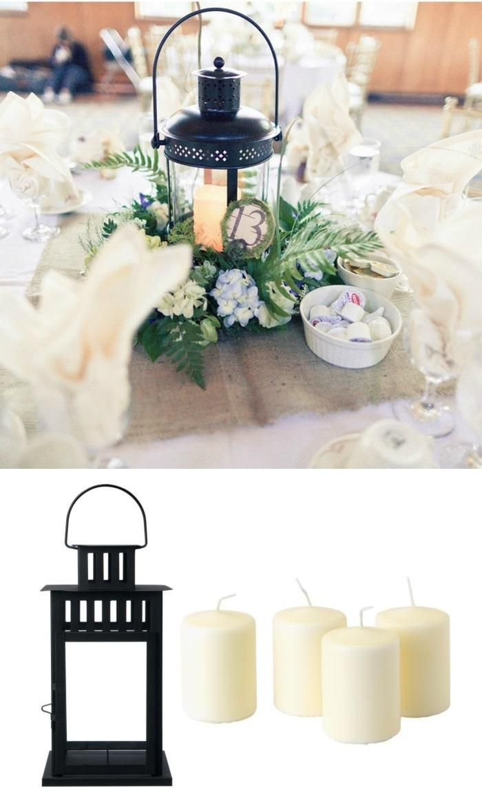 Lanterns could be part of centerpiece or other table decorations ...