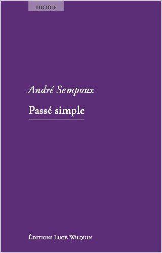 Passé simple : nouvelles / André Sempoux - [Avin] : Luce Wilquin, cop. 2014