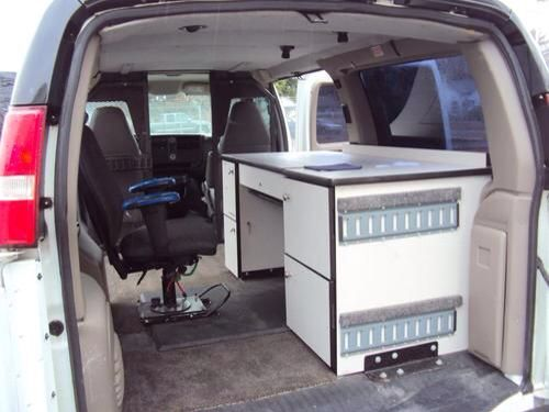 Used Chevrolet 04 Full Size Van Mobile Office Desk Or Cargo Clean White Rare In Bel Air Maryland United States