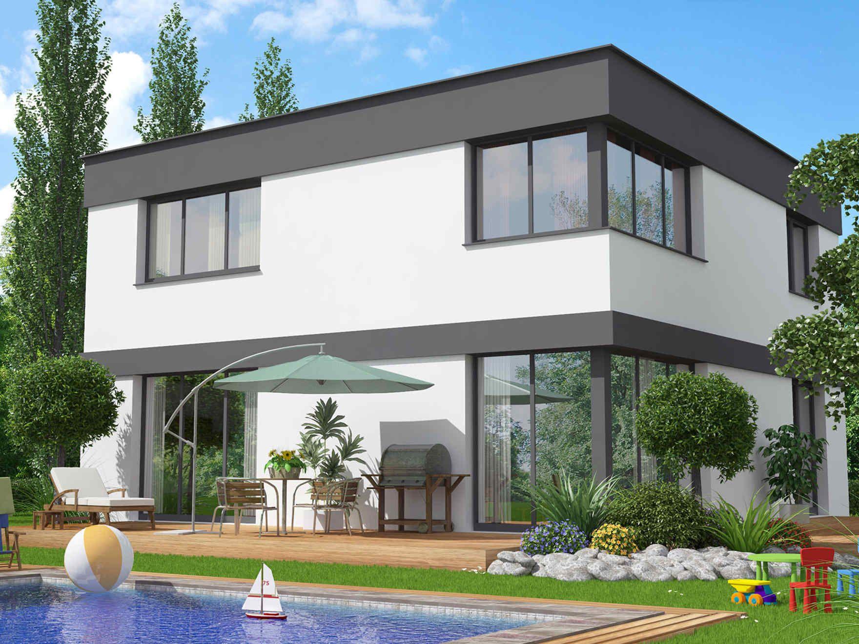 Vario haus vision gibtdemlebeneinzuhause einfamilienhaus for Minimalistisches haus grundriss