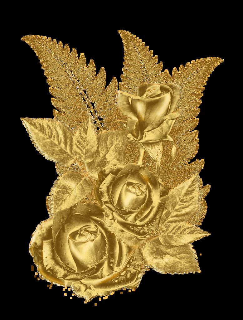 Golden Flower By Https Www Deviantart Com Roula33 On Deviantart Golden Flower Flower Frame Png Flower Frame
