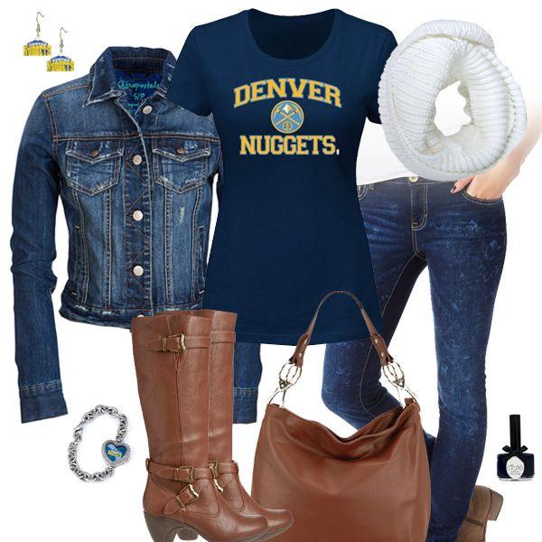 Denver Nuggets Jean Jacket Outfit Denver Nuggets Fan Tee Gaming Clothes Jean Jacket Outfits Jacket Outfits