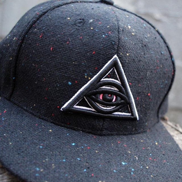 acd15f53dc6 Custom 6 Panel Snapbacks for NUGG LIFE ( nugglife) - - Black speckled wool  construction