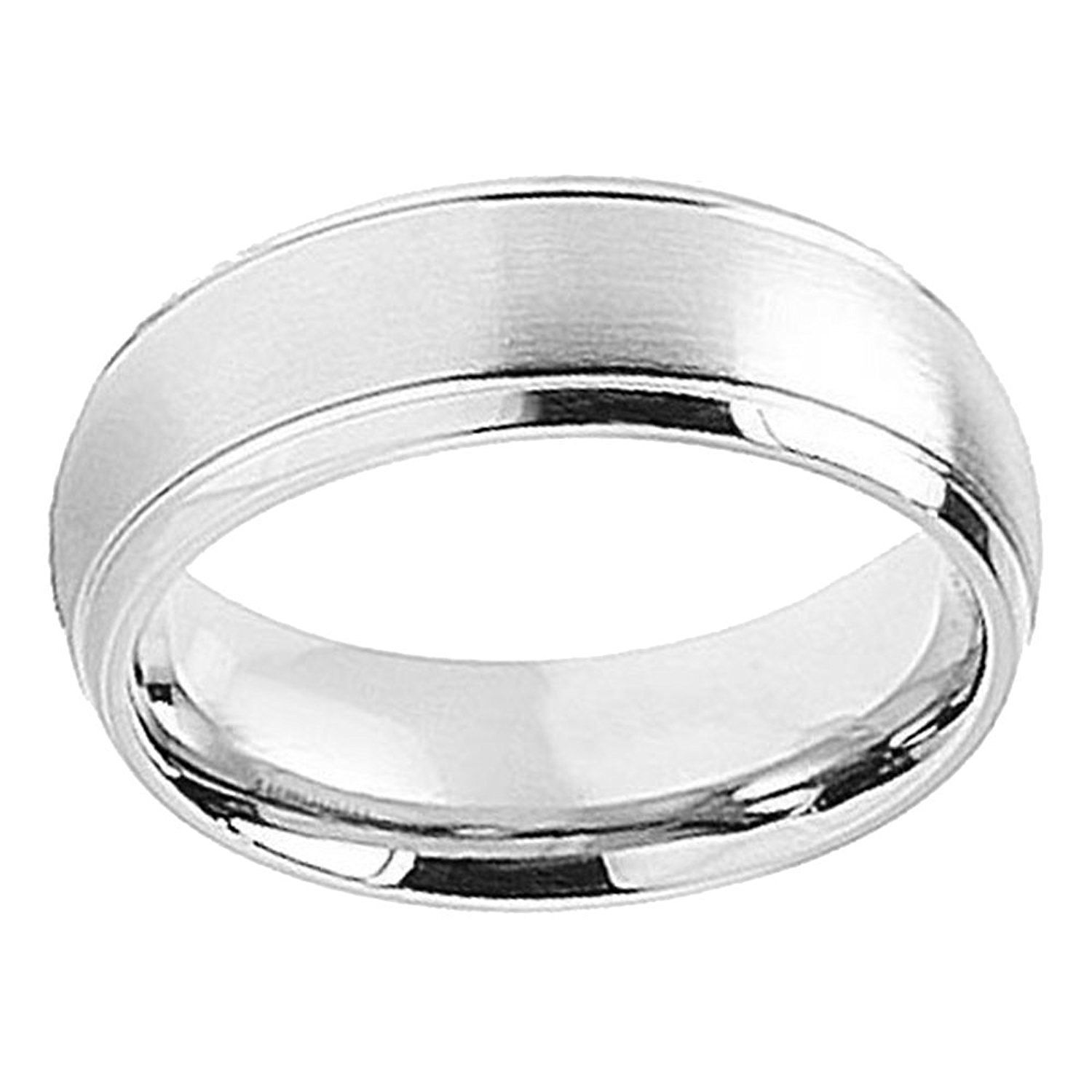 8mm Brushed and High Polished Classic Domed Milgrain