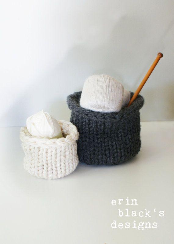 DIY Knitting PATTERN Chunky Knit Lidded by ErinBlacksDesigns   Erin ...
