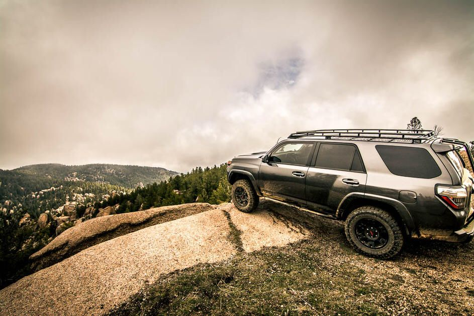 Gray Toyota 4Runner with TRD Wheels Roof rack Toyota