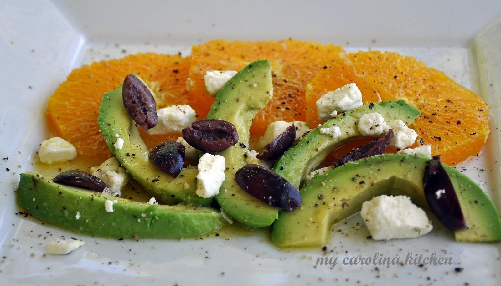 My Carolina Kitchen: Orange & Avocado Salad flavored with one of the authentic flavors of Provence - Pastis
