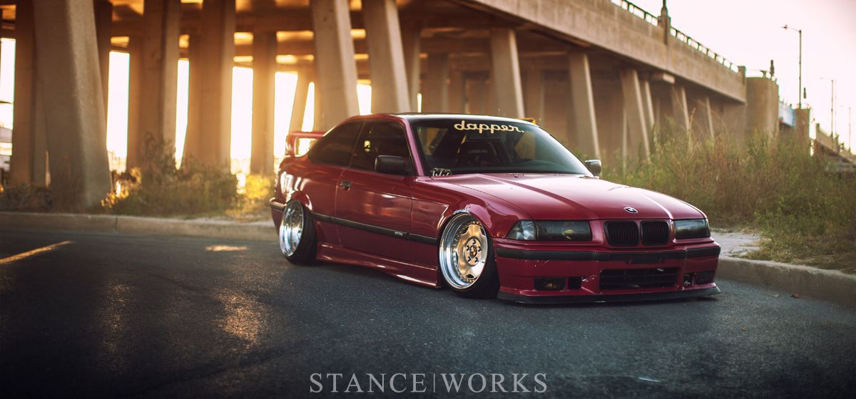 Shaun Quill E36 M3 Static Slammed Title Bmw Bmw Red