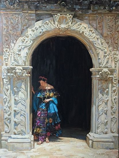 Gladys Roldan de Moras Roldan-de-Moras Oil Impressionist Painter