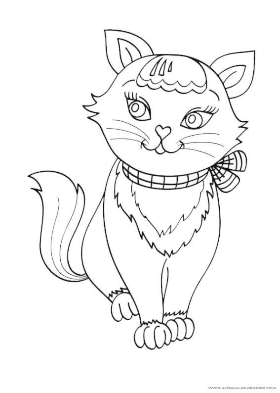 Ausmalbilder Katzen_30.jpg   Ausmalbilder Katzen   Pinterest ...