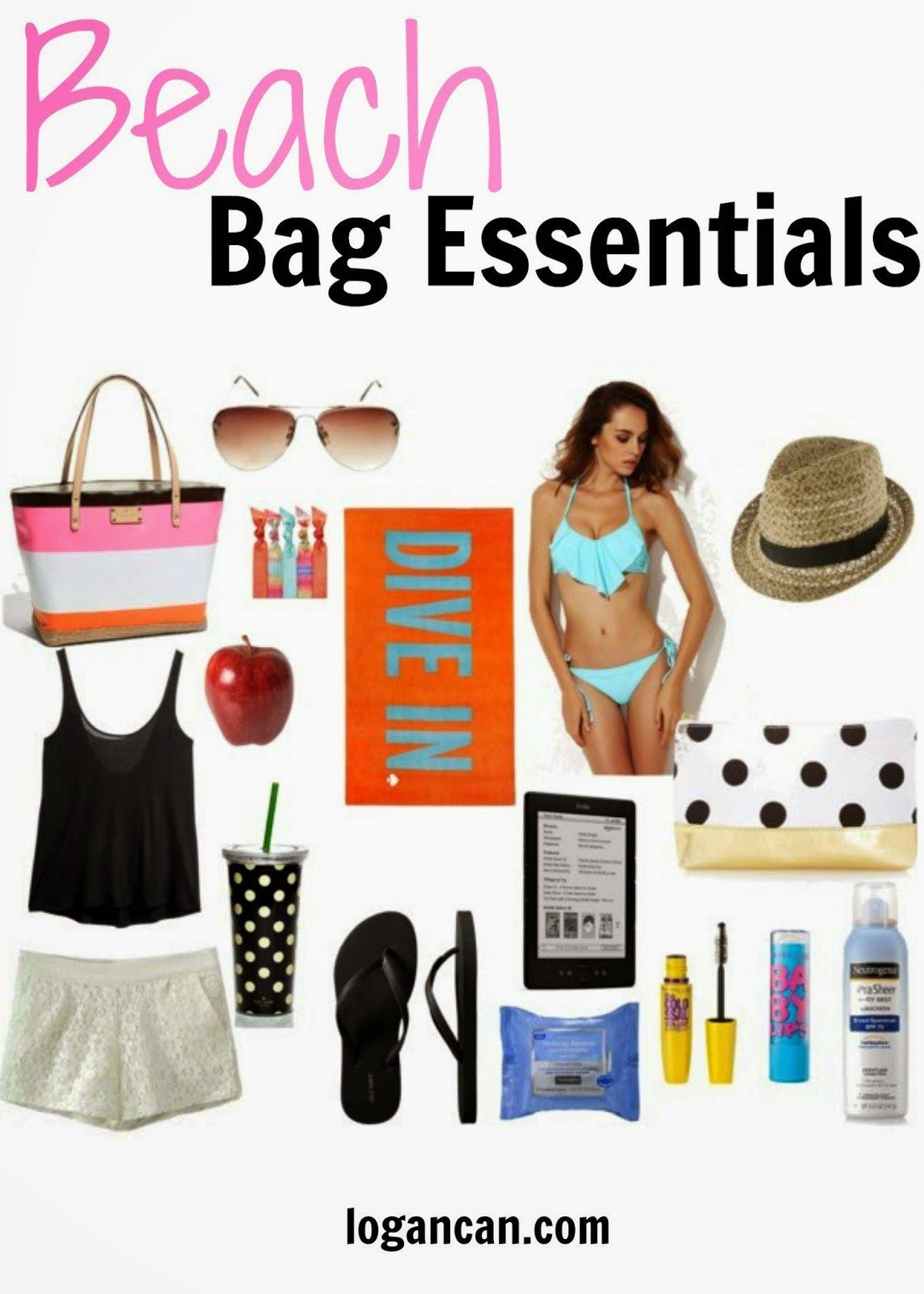 Beach Bag Essentials | Laghi, Cosa essenziali per borsa da ...
