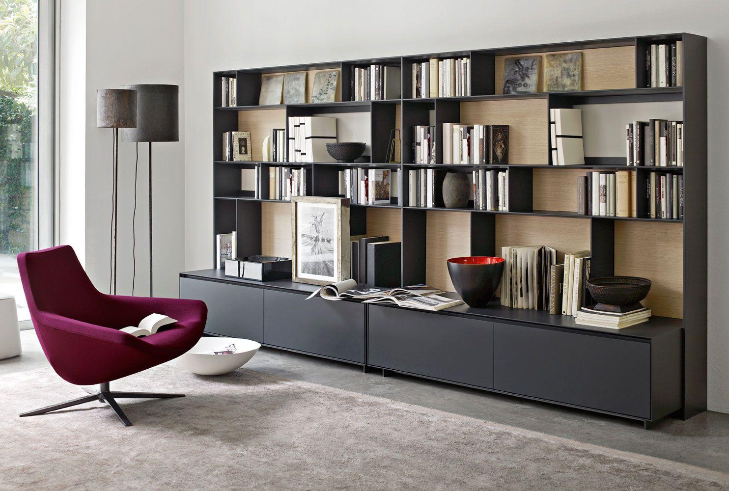 System Bookcase Flat C Collection B Italia Design Antonio