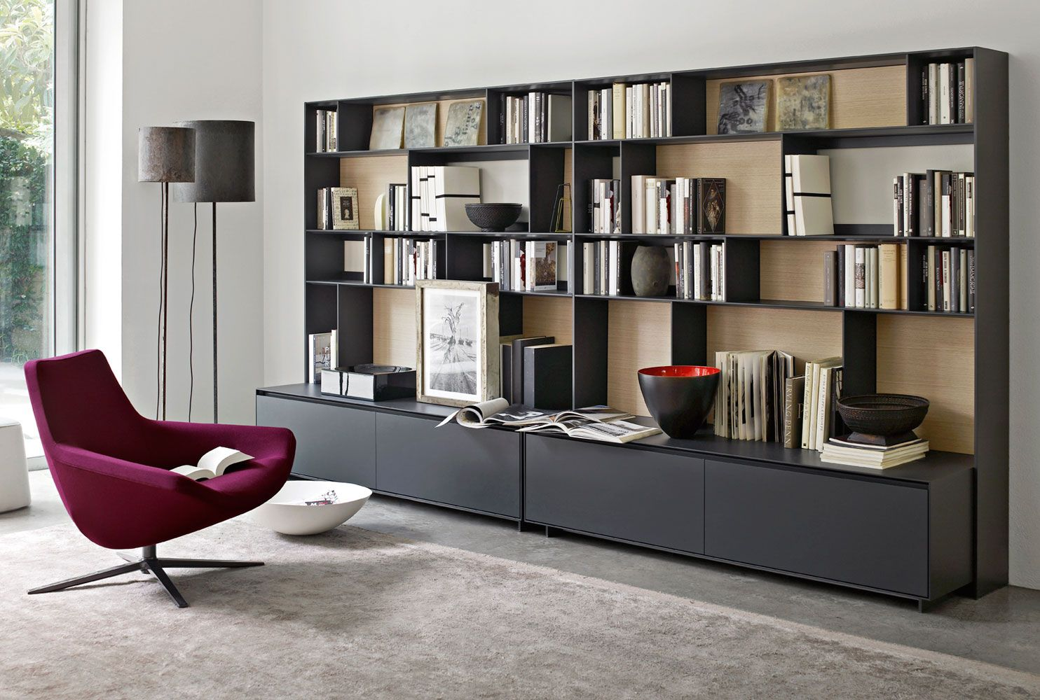 System bookcase flat c collection b b italia design for B et b italia