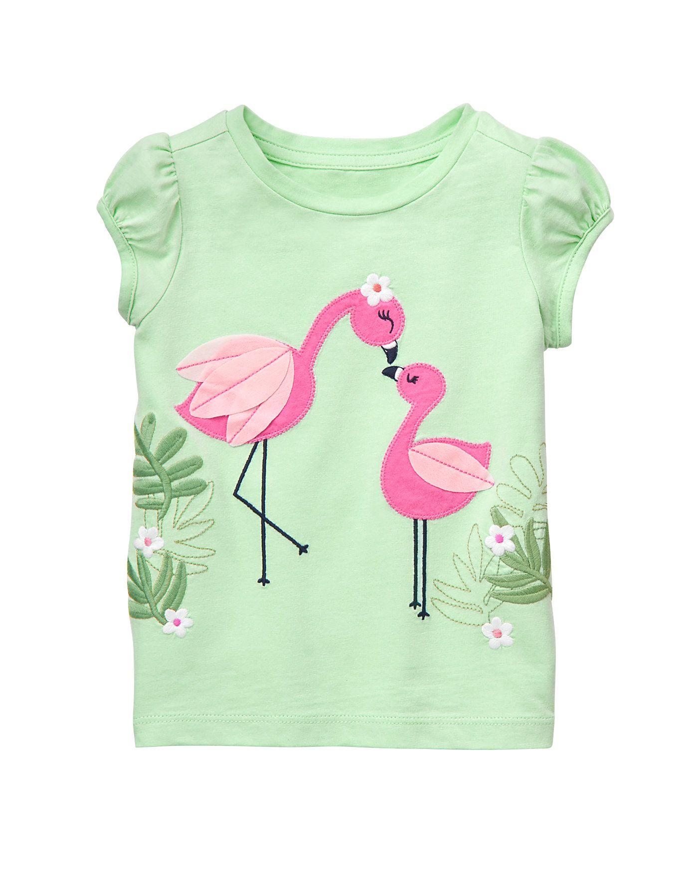 26d53a67b Flamingo Friends Top @gymboree | niño | Trajes para niños ...