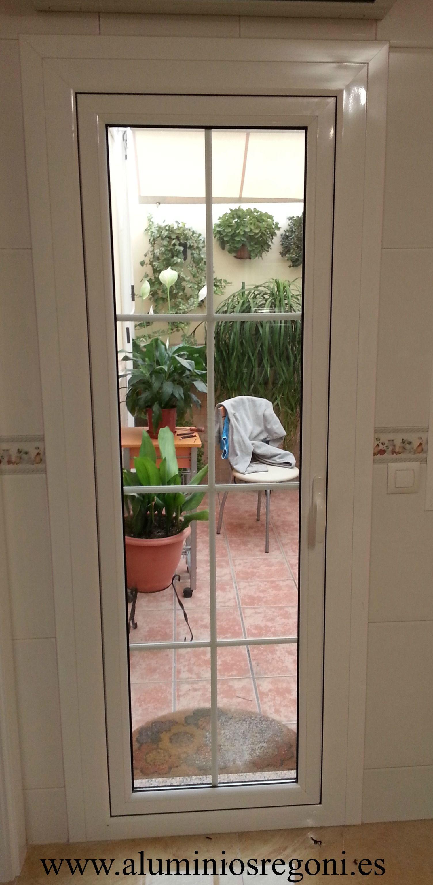 Puerta de aluminio con rotura de puente t rmico ventanas - Cristaleras de aluminio ...