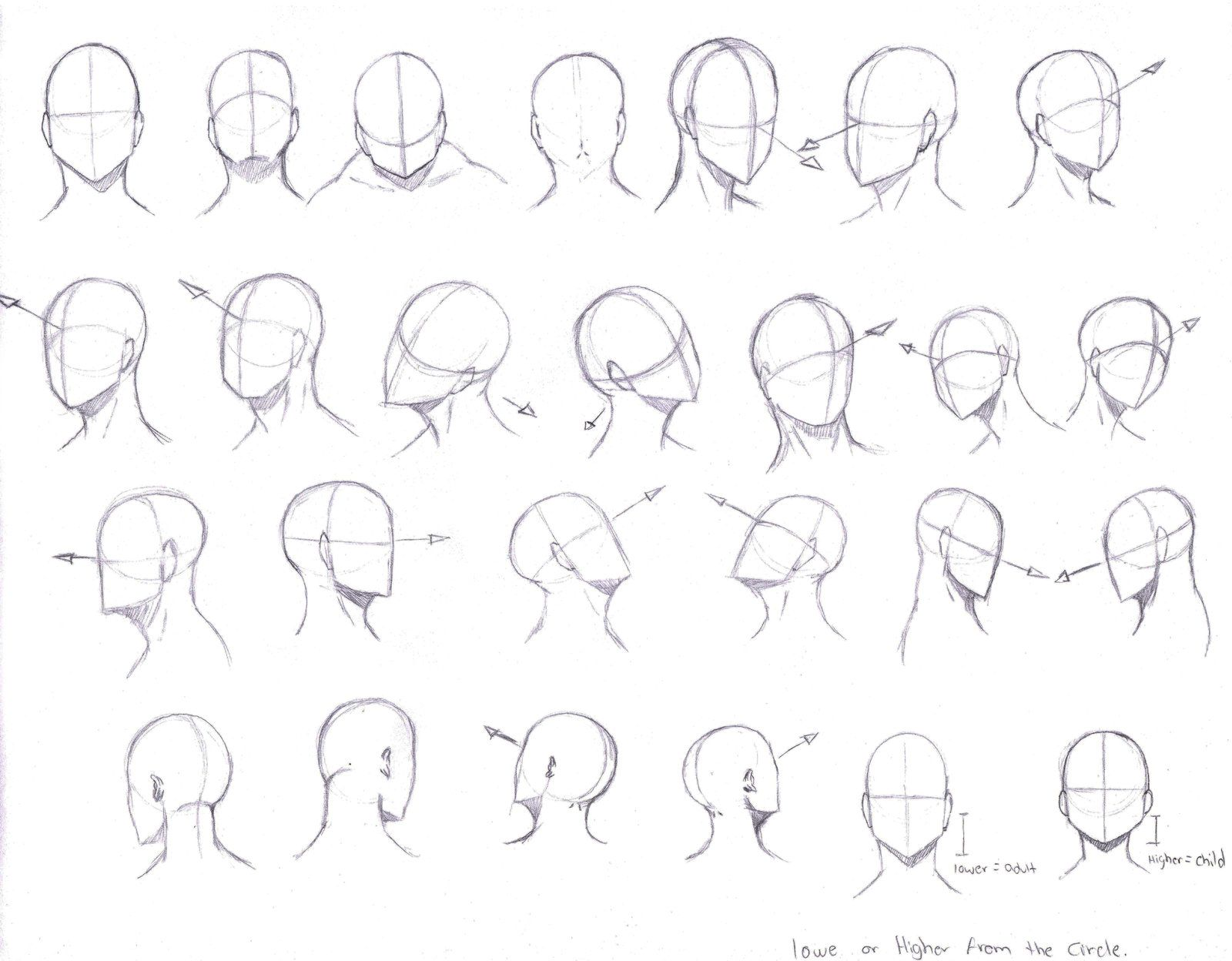 Draw face from any angle face angles drawing at getdrawings free